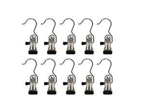 Kitchen Storage Metal Clothes Hanger Pins Boot Hanger-Decorative Shower Curtain Hooks or Multipurpose Hanger large Clip Hooks for Laundry Hooks Shoes/Scarves/curtain or Hanging Photos Set of 10