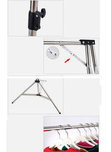 WWZY Stainless steel Drying racks Fold Travel Fall to the ground Balcony Indoor Simple Clothes hangers