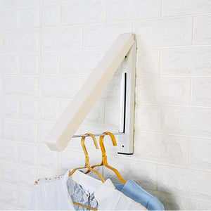 Suit Hangers, Stainless Steel Clothes Wall Hanger Retractable Indoor Magic Foldable Drying Towel Rack