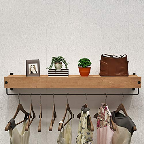 Coat Racks Clothing Store Display Stand Hanger Display Stands Women's Shop Shelf Retro Wall-mounted Hanger Clothes Hanger Shelf
