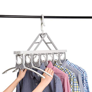 Closet Clothes Hangers Space Saving Hangers Multi-Function Plastic Cascading Hanger Non Slip with Drying Rack Wardrobe Dorm Apartment