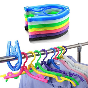 10Pcs Plastic Foldable Hangers Simple and portable Folding Clothes Hanger good for Travel Camping(10pcs/pack)