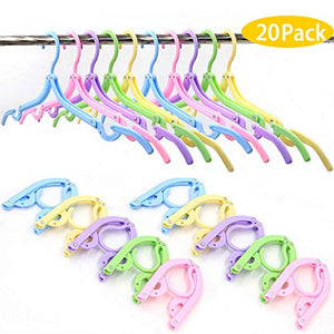 20 PCS Folding Clothes Hangers for Travel,Portable Clothes Hangers Suitable for Both Family And Travel Use