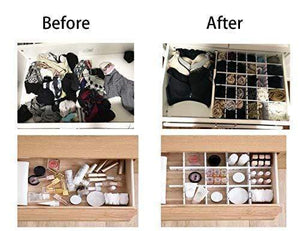 On amazon drawer organizers diy grid dividers storage spacer wood plastic multipurpose finishing shelves for wardrobe desk tea table dresser kitchen underwear socks tableware charging line white 5pack