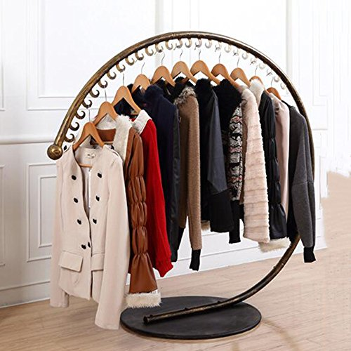 COAT RACK XIA Iron Art Clothes Rack Creativity Hangers Clothes Hanger Landing Indoor Fashion Clothing Display Stand Black Brass White 130120cm(longheight) 160150cm(longheight) Hanger