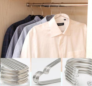 "VIPASNAM-4pcs 17.7"" Large Heavy Duty Solid Stainless Steel Clothes Coat Hangers"