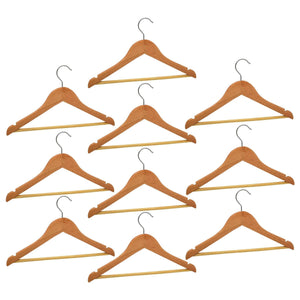 Harbour Housewares Children's Wooden Clothes Hanger - Natural - Pack of 10