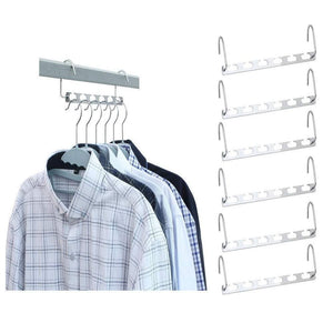Clothes Closet Hangers Clothing Organizer Wonder Magic Stainless Steel 6 Pcs
