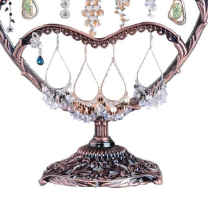 Storage organizer earring display botitu 11 inch tall jewelry holder with 58 hooks and 3 tiers earring holder for girls and women jewelry tree perfect for dresser nightstand and countertop jewelry display copper