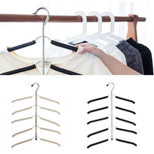 Longlasting Multi-Layer Suit Hangers, Stainless Steel Seamless Pant Slack Hangers Space Save Hanger Rack Household (Beige)