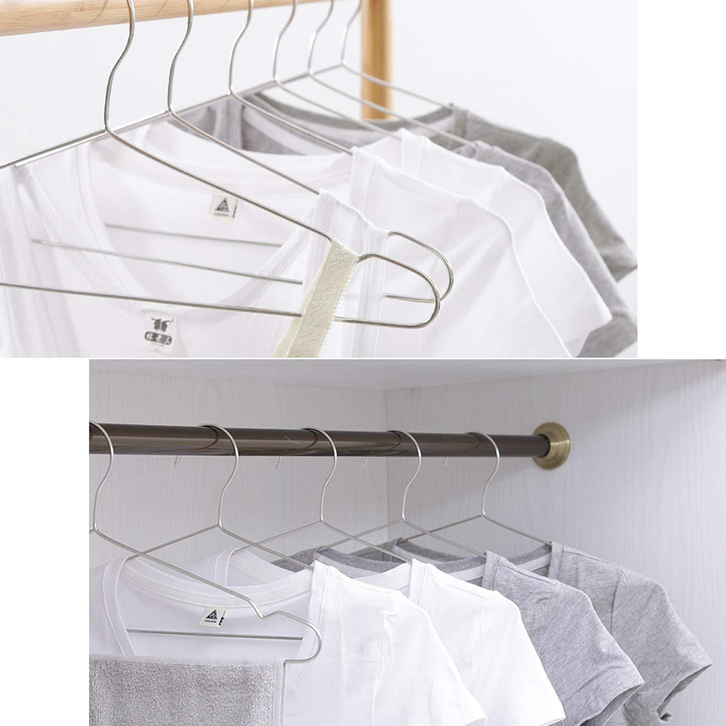 Origa 20 Pack Stainless Steel Strong Metal Wire Hangers, 16.5 inch Coat Hanger, Standard Suit Hangers, Clothes Hanger