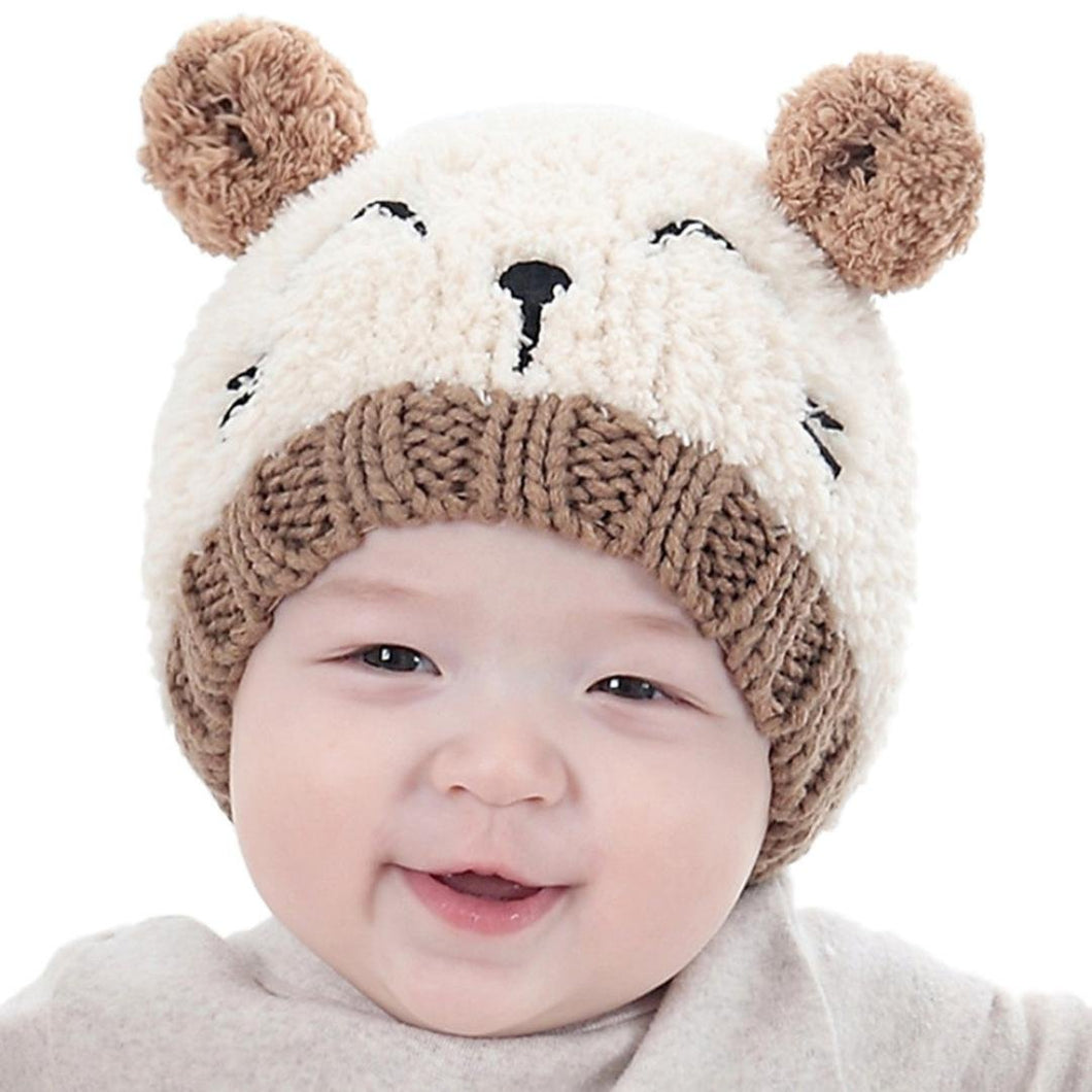 Baby Hats,FUNIC Toddler Kids Baby Boys Girls Knitted Hats Children's Lovely Soft Hat (Beige)