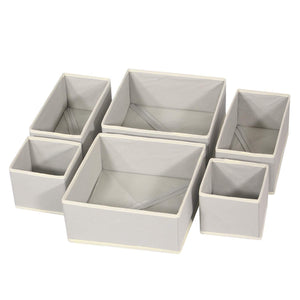 Online shopping diommell foldable cloth storage box closet dresser drawer organizer fabric baskets bins containers divider with drawers for clothes underwear bras socks lingerie clothing set of 6