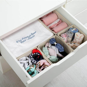 Amazon best dresser drawer organizer 8 pcs foldable storage box fabric closet storage cubes clothes storage bins drawer dividers storage baskets for bras socks underwear accessories home office bedroom