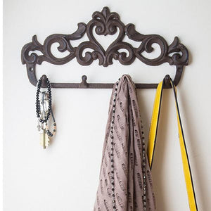 Decorative Cast Iron Wall Hook Rack