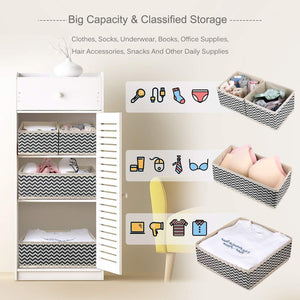 Budget dresser drawer organizer 8 pcs foldable storage box fabric closet storage cubes clothes storage bins drawer dividers storage baskets for bras socks underwear accessories home office bedroom