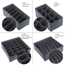 Related titan mall closet underwear organizer drawer foldable storage box drawer dividers dresser drawer organizers for underwear bras grey set of 4 dark grey