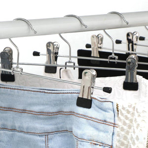 OUNONA Stainless Steel Clothes Drying Hanger with Clips Pants Drying Rack 20pcs