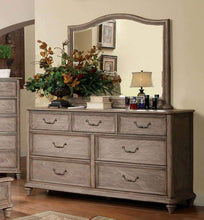 Try belgrade collection antique modern padded fabric hb storage fb platform queen size bed rustic natural tone finish w matching dresser mirror nightstand 4pc set