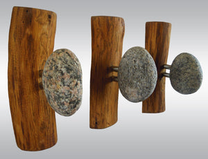 Coat rack, coat wall hooks, coat rack stand, towel rack, coat hanger, entryway hooks, wall coat rack, robe hooks, coat rack with stone hooks