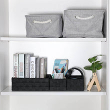 Buy kedsum woven storage box cube basket bin container tote cube organizer divider for drawer closet shelf dresser set of 4 black