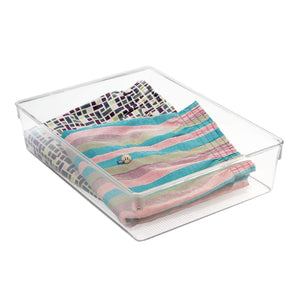 Try interdesign linus plastic dresser and vanity organizer storage bin for bathroom bedroom office craft room fridge freezer pantry 12 x 9 x 3 clear