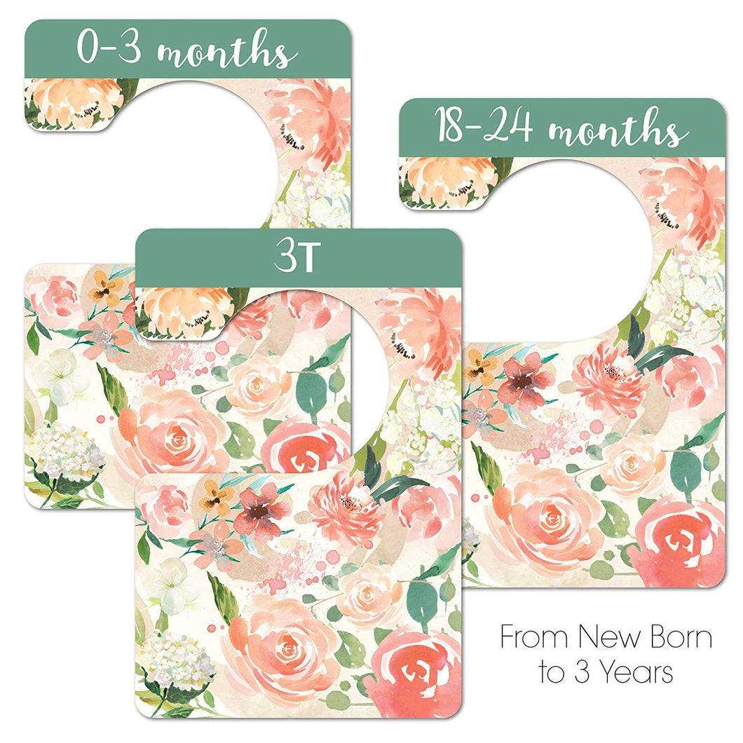 Floral Nursery Closet Dividers, Closet Organizer, Nursery Decor & Baby Gift