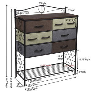 Best household essentials victorian 8 drawer chest storage dresser or entryway table black