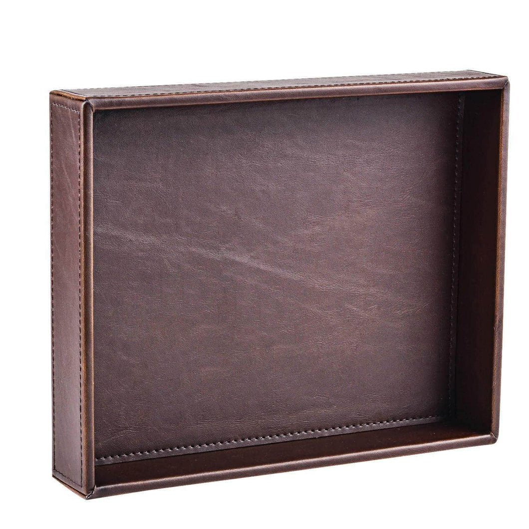 Kitchen decor trends brown 10 2x8 3 rectangle vintage leather decorative office desktop storage catchall tray valet tray nightstand dresser key tray