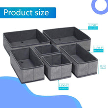 Great onlyeasy foldable cloth storage box closet dresser drawer organizer cube basket bins containers divider with drawers for scarves underwear bras socks ties 6 pack linen like grey mxdcb6p