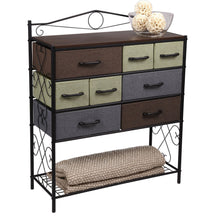 Budget household essentials victorian 8 drawer chest storage dresser or entryway table black