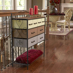 Buy now household essentials victorian 8 drawer chest storage dresser or entryway table black