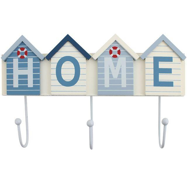 BEACH HUT HOME DECORATIVE HOOKS