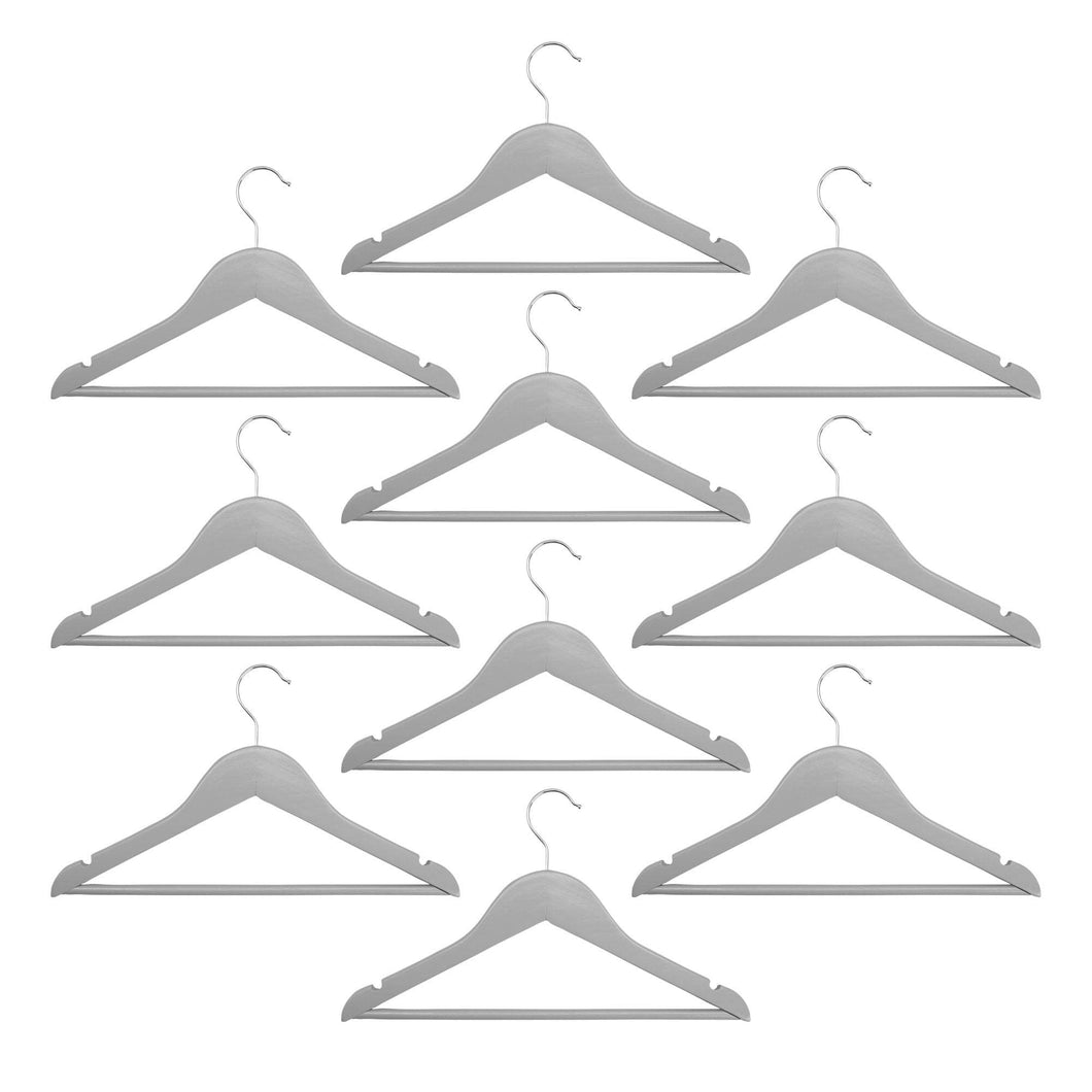 Harbour Housewares Children's Clothes Hangers - Grey - Pack of 10