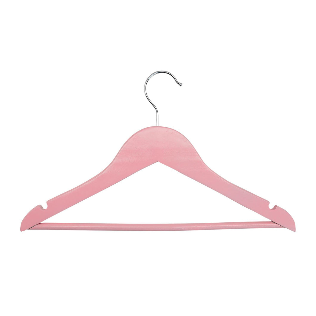 Harbour Housewares Children's Clothes Hanger - Pastel Pink