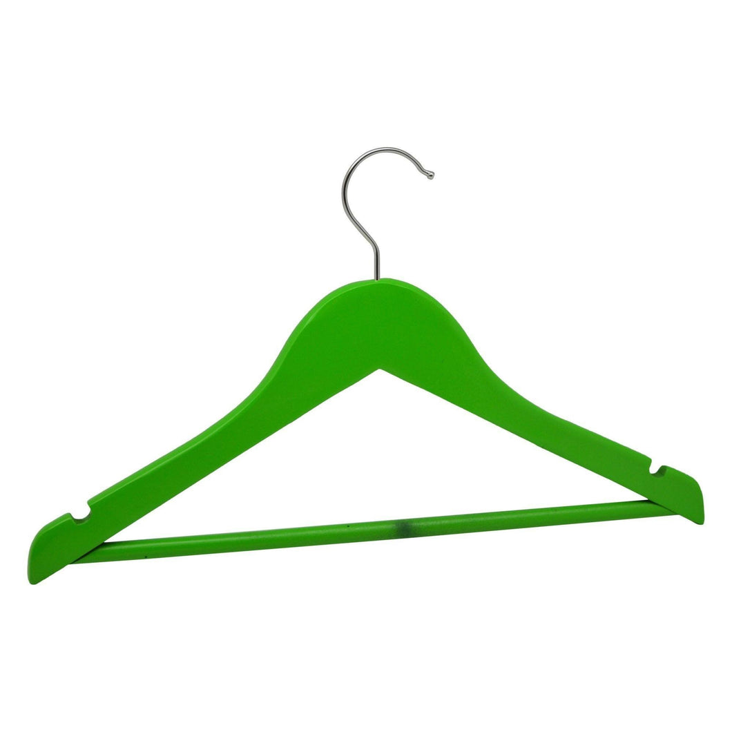 Harbour Housewares Wooden Children's Clothes Hanger - Green