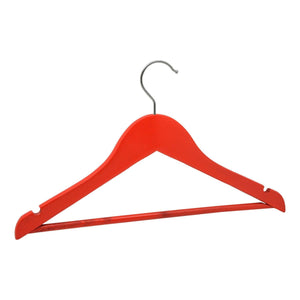 Harbour Housewares Wooden Children's Clothes Hanger - Red