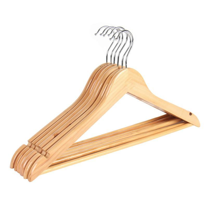 6Pack Extra Wide Wood Clothes Hanger Coat Hanger Rounder Shoulder Suite Hanger For Closet Collection Natural Wood Collection
