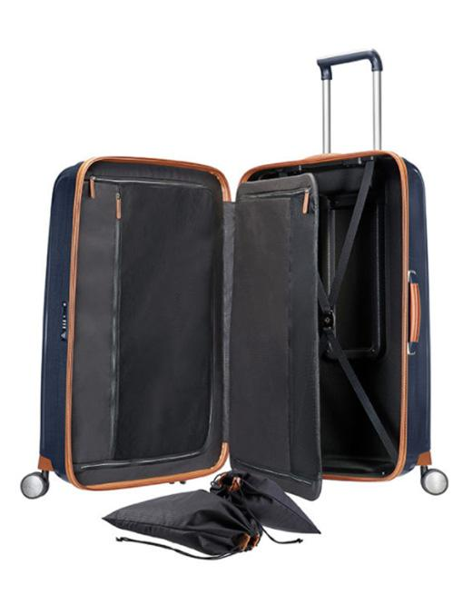 Samsonite - Lite Cube Deluxe 76cm Large 4 Wheel Hard Suitcase - Midnight Blue