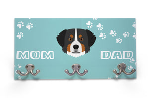 Wall Mounted Coat Rack - Bernese Mountain Dog