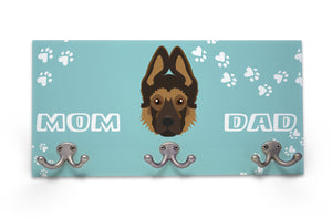 Wall Mounted Coat Rack - German Shepherd - Puppy