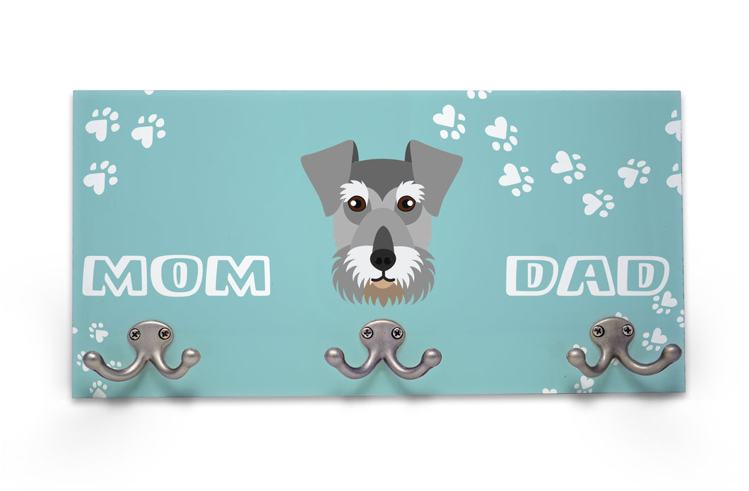Wall Mounted Coat Rack - Schnauzer
