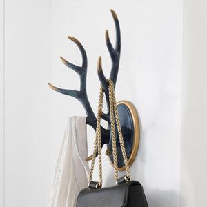 Modern Home Decor Horn Statue Coat Hanger Sculpture Ornaments
