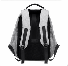Load image into Gallery viewer, Anti Theft Backpack with USB Connector