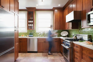 Tempting Green Backsplash Tile