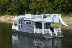 Boats That Are Like 'tiny Houses' On The Water