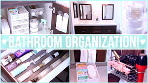 Easy and inexpensive ideas for organizing your bathroom - including organizing bathroom cabinets, drawers and a DIY natural bathroom cleaner! & most items ...