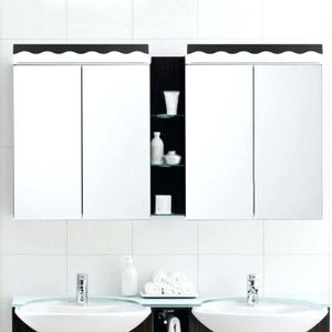 vanity light mirror led modern acrylic vanity light black white bath mirror cabinet linear vanity lighting long makeup vanity desk with lighted mirror.