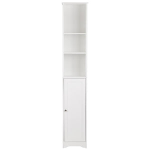 FCH One Door & Three Layers Bathroom Cabinet White