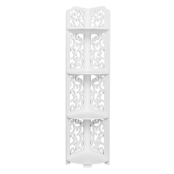 Daqing Carving Style Waterproof 120-Degree Angle 4 Layers Bathroom Cabinet Shelf White
